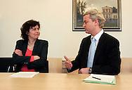 THE NETHERLANDS-THE HAGUE. March 31, 2005. Dutch politician Geert Wilders. 31-03-05. Den Haag. Geert Wilders bij de kiesraad. Photo: Gerrit de Heus