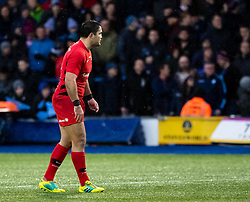 Brad Barritt of Saracens<br /> <br /> Photographer Simon King/Replay Images<br /> <br /> European Rugby Champions Cup Round 4 - Cardiff Blues v Saracens - Saturday 15th December 2018 - Cardiff Arms Park - Cardiff<br /> <br /> World Copyright © Replay Images . All rights reserved. info@replayimages.co.uk - http://replayimages.co.uk
