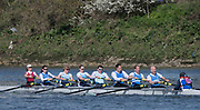 Mortlake/Chiswick, GREATER LONDON. United Kingdom. Marlow Rowing Club/St Andrew Boat Club/Strathclyde Park<br /> Rowing Club/Edinburgh University Boat Club<br /> Mx.MasC.8+, competing at the 2017 Vesta Veterans Head of the River Race, The Championship Course, Putney to Mortlake on the River Thames.<br /> <br /> <br /> Sunday  26/03/2017<br /> <br /> [Mandatory Credit; Peter SPURRIER/Intersport Images]