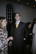 Bea Hemming and Lord Frederick Windsor, Misadventure In the Middle East. Travels As a Tramp, Artist and Spy by Henry Hemming. Book launch and exhibition. Paradise Row. London. E2.  -DO NOT ARCHIVE-© Copyright Photograph by Dafydd Jones. 248 Clapham Rd. London SW9 0PZ. Tel 0207 820 0771. www.dafjones.com.
