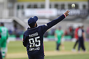 Adil Rashid of England during the One Day International match between England and Ireland at the Brightside County Ground, Bristol, United Kingdom on 5 May 2017. Photo by Andrew Lewis.