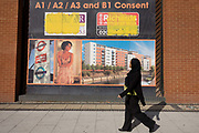 A local passer-by and a property development ad on wall in east London borough of Stratford, Newham, home of 2012 Olympics. The 2012 Olympics has sparked a house price boom in east London but there are fears for this old East End neighbourhood as young professionals and penthouses push up Stratford house prices. Since London won the bid in 2005, talk of east London's Olympic property boom has proved both myth and reality. Even amid the worst recession since the 1930s, it was assumed that at least one corner of the country would be impregnable to house price doom. For some, this is true: parts of Hackney have recorded average rises of up to 56% between July 2005 and May 2011. But for other, less gentrified areas, it has been a different story; in Stratford the increase was 13%.