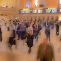 Grand Central Terminal - Are we all a blur, or a commuting being. The lines of reality blurring. Are we simply traveling or transitioning or both?