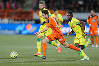 Vincent LEGOFF / Ismael BANGOURA - 20.12.2014 - Lorient / Nantes - 17eme journee de Ligue 1 -<br />