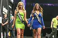 The Betway walk on girls during the Betway Premier League Darts Play-Offs at the O2 Arena, London, United Kingdom on 19 May 2016. Photo by Shane Healey.