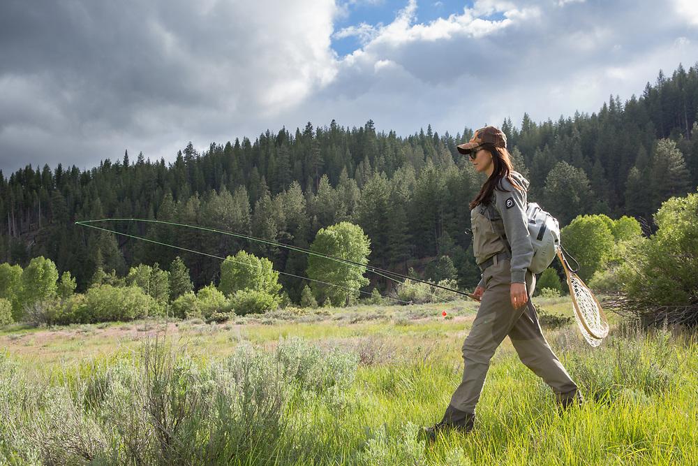 Chelsea Baum (@CherokeeFlyGirl)<br /> Tahoe National Forest.  California.