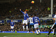 James McCarthy of Everton heads towards goal but just misses. Barclays Premier League match, Everton v Newcastle United at Goodison Park in Liverpool on Wednesday 3rd February 2016.<br /> pic by Chris Stading, Andrew Orchard sports photography.