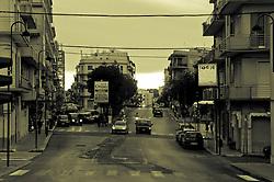 Strada principale di Ostuni che divide la parte vecchia dalla città nuova