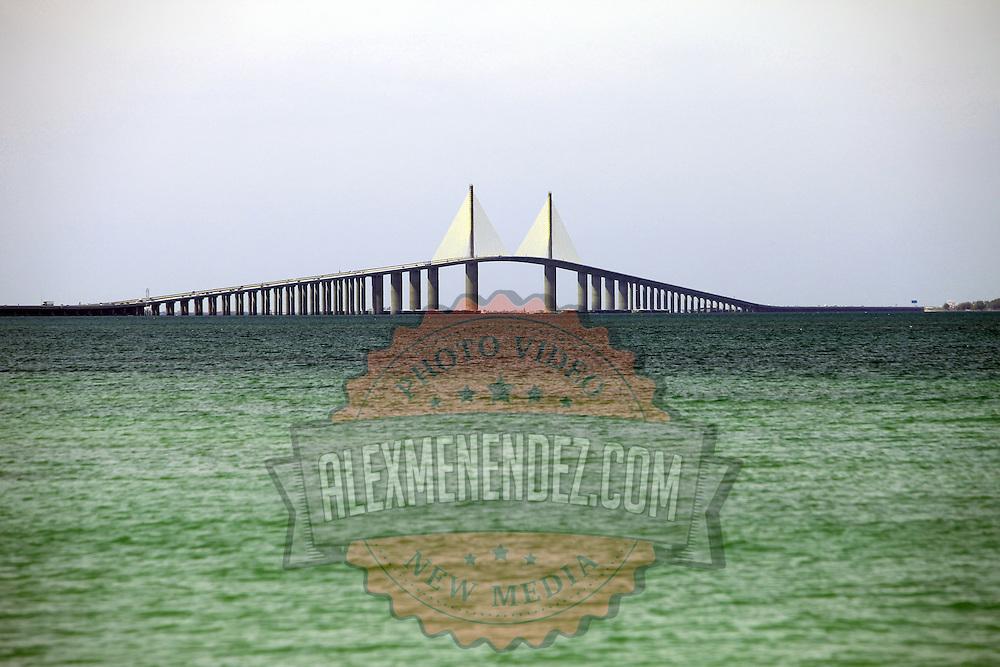 The Sunshine Skyway Bridge in Tampa, Florida. (AP Photo/Alex Menendez) Florida scenic highway photos from the State of Florida. Florida scenic images of the Sunshine State.
