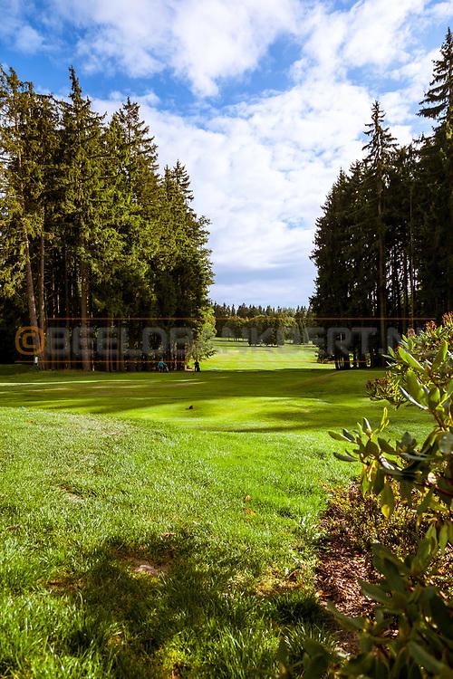 20-09-2015: Royal Golf Club Marianske Lazne in Marianske Lazne (Marienbad), Tsjechië.<br /> Foto: Fraaie doorkijkjes