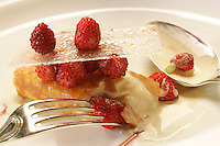 Raspberry and ice cream at Restaurant Meurice, Chef Yannick Aleno, Paris