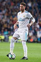 Real Madrid Sergio Ramos during La Liga match between Real Madrid and Eibar at Santiago Bernabeu Stadium in Madrid, Spain. October 22, 2017. (ALTERPHOTOS/Borja B.Hojas)