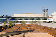Israel, Tel Aviv Fredric R Mann Auditorium, home of the Israel symphony orchestra. A unique  Bauhaus style building part of the reason UNESCO declared central Tel Aviv as an international heritage site