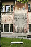 Il cortile dell'accademia di Belle Arti di Bergamo