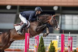 Moerings Bas, NED, Ipsthar<br /> Nationaal Kampioenschap KWPN<br /> 7 jarigen springen final<br /> Stal Tops - Valkenswaard 2020<br /> © Hippo Foto - Dirk Caremans<br /> 19/08/2020