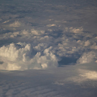 On the way to Austin, the clouds were especially wonderful.
