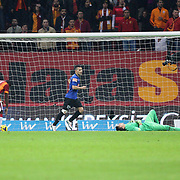 Kayseri Erciyesspor's scores during their Turkish Super League soccer match Galatasaray between Kayseri Erciyesspor at the AliSamiYen Spor Kompleksi TT Arena at Seyrantepe in Istanbul Turkey on Friday, 27 February 2015. Photo by Batuhan AKICI/TURKPIX