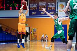 Jure Pelko KK Helios Suns during 9. round of Slovenian national championship between teams Helios Suns and Zlatorog Lasko in Sport Hall Domzale on 30. November 2019, Domzale, Slovenija. Grega Valancic / Sportida