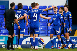 Jack Lankester of Ipswich Town scores and celebrates the winner - Mandatory by-line: Phil Chaplin/JMP - 21/11/2020 - FOOTBALL - Portman Road - Ipswich, England - Ipswich Town v Shrewsbury Town - Sky Bet League One