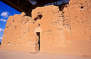 Afternoon light on the west entrance of Casa Grande Ruins,  Casa Grande Ruins National Monument