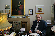 Author Alexander McCall-Smith pictured at his home in Edinburgh. McCall-Smith authored the bestselling Lady Detective of Botswana series of crime stories.