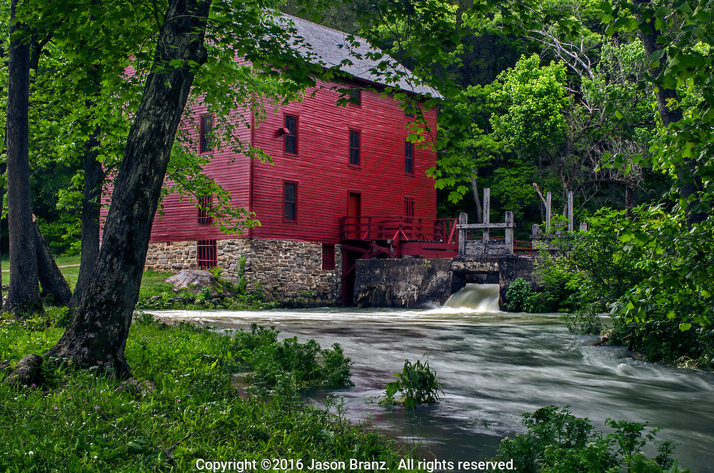 Spring colors at Alley Spring Mill, Ozark National Scenic Riverways, Missouri