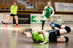 Anja Kolobaric of RK Olimpija during handball match between RK Olimpija and ZRK Krka Novo Mesto in Round #10 of National Youth League in Season 2020-21, on May 2, 2021 in Hala Tivoli, Ljubljana, Slovenia. Photo by Matic Klansek Velej / Sportida