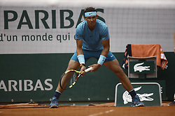 June 10, 2018 - Paris, Ile-de-France, France - Rafael Nadal of Spain looks on during the mens singles final against Dominic Thiem of Austria during day fifteen of the 2018 French Open at Roland Garros on June 10, 2018 in Paris, France. (Credit Image: © Mehdi Taamallah/NurPhoto via ZUMA Press)