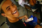 Belo Horizonte_MG, Brasil...Adolescente deficiente no projeto Escola Aberta na Escola Municipal Helio Pelegrino...The teenager with disabilities in the project Escola Aberta in the Helio Pelegrino Municipal School...FOTO: BRUNO MAGALHAES /  NITRO