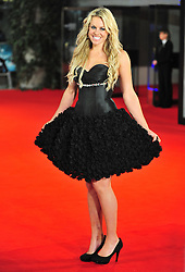 © Licensed to London News Pictures. 24/01/2012. London, England. Chemmy Alcott attends the world premiere of The Woman in Black , Hammer Films new horror movie at The Royal Festival hall  London  Photo credit : ALAN ROXBOROUGH/LNP