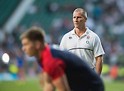 Twickenham, England.  Head Coach, Stuart LANCASTER over see's the pre game trainging session. QBE International. England vs France [World cup warm up match]  {DOW  {DATE}  [Mandatory Credit. Peter SPURRIER/Intersport Images.