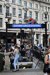 Oxford Circus underground station, London UK