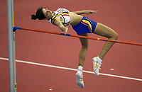 Photo: Rich Eaton.<br /> <br /> EAA European Athletics Indoor Championships, Birmingham 2007. 03/03/2007. Tia Hallebaut of Belgium wins the womens high jump