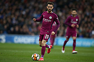 Bernardo Silva of Manchester city in action.  The Emirates FA Cup, 4th round match, Cardiff city v Manchester City at the Cardiff City Stadium in Cardiff, South Wales on Sunday 28th January 2018.<br /> pic by Andrew Orchard, Andrew Orchard sports photography.