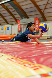 19-09-2019 NED: EC Volleyball 2019 School Playground, Amsterdam<br /> Children from a primary school had a fun game morning. They were given a game on the Join Volleyball playground