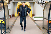Forest Green Rovers Manager, Mark Cooper  arrives during the EFL Sky Bet League 2 match between Port Vale and Forest Green Rovers at Vale Park, Burslem, England on 20 August 2019.