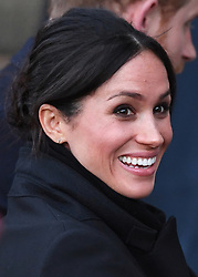Prince Harry and Meghan Markle visit Cardiff Castle on a day showcasing the culture and heritage of Wales in Cardiff, Wales, UK, on the 18th January 2018. 18 Jan 2018 Pictured: Meghan Markle. Photo credit: James Whatling / MEGA TheMegaAgency.com +1 888 505 6342