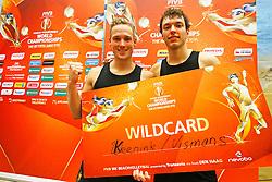 20150306 NED: Wilcard Toernooi WK Beachvolleybal, Den Haag<br />Sven Vismans en Wessel Keemink winnen de Wild Card voor het WK Beachvolleybal<br />©2015-FotoHoogendoorn.nl / Pim Waslander