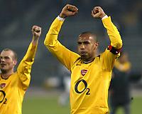 Photo: Chris Ratcliffe.<br /> Juventus v Arsenal. UEFA Champions League. Quarter-Finals. 05/04/2006. <br /> Thierry Henry celebrates