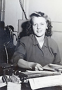 female office worker at her desk portrait USA 1945