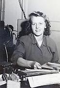 female office worker at her desk portrait USA 1945