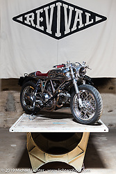 Custom Ducati by Revival Motorcycles on Friday of the Handbuilt Motorcycle Show. Austin, TX. April 10, 2015.  Photography ©2015 Michael Lichter.