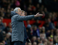 Jose Mourinho manager of Manchester United during the English Premier League match at Old Trafford Stadium, Manchester. Picture date: April 4th 2017. Pic credit should read: Simon Bellis/Sportimage