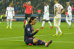 January 19, 2019 - Paris, Ile de France, France - Joy of the Paris SG striker EDINSON CAVANI after scored the sixth goal during the French championship League 1 Conforama match Paris SG against EA Guingamp at the Parc des Princes Stadium in Paris - France..Paris SG won 9-0 (Credit Image: © Pierre Stevenin/ZUMA Wire)