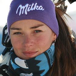 20101021: AUT, Alpine Ski - Practice of Tina Maze in Soelden