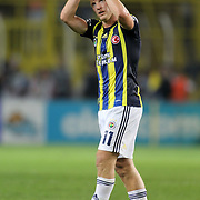 Fenerbahce's Dirk Kuyt during their Turkish Superleague soccer derby match Fenerbahce between Besiktas at Sukru Saracaoglu stadium in Istanbul Turkey on Sunday 07 October 2012. Photo by TURKPIX