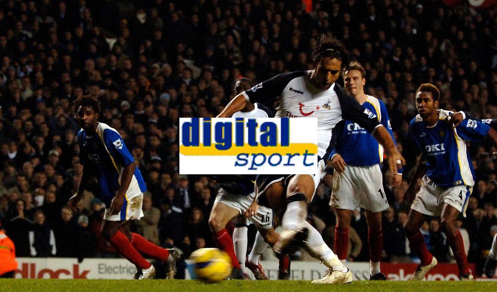 Photo: Daniel Hambury.<br />Tottenham Hotspur v Portsmouth. The Barclays Premiership. 12/12/2005.<br />Tottenham Mido scores from the spot to make it 2-1.