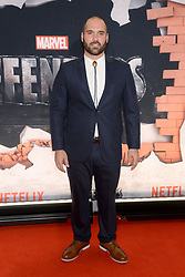 Marco Ramirez attends the 'Marvel's The Defenders' New York Premiere at Tribeca Performing Arts Center in New York, NY, on on July 31, 2017. (Photo by Anthony Behar) *** Please Use Credit from Credit Field ***