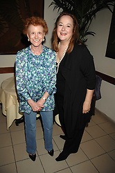 Left to right, PAULINE HYDE and SHELLEY VON STRUNCKEL at a party to celebrate the publication of Pailine Hyde's book 'Midas Man' held at San Lorenzo, Beauchamp Place, London on 29th May 2008.<br /><br />NON EXCLUSIVE - WORLD RIGHTS