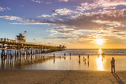Sunset at San Clemente Pier